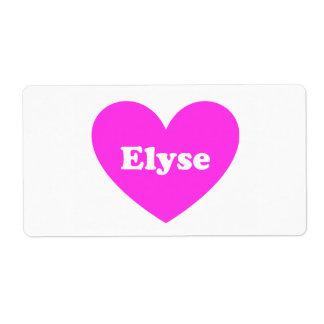 Elyse Shipping Label