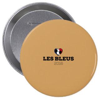 EM 2016 Les bleus France 10 Cm Round Badge