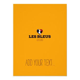 EM 2016 Les bleus France 17 Cm X 22 Cm Invitation Card
