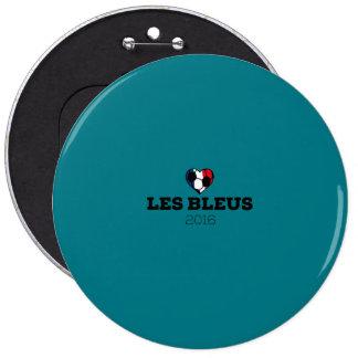 EM 2016 Les bleus France 6 Cm Round Badge