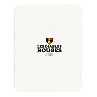 EM 2016 Les Diables Rouges Belgium 11 Cm X 14 Cm Invitation Card