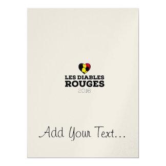 EM 2016 Les Diables Rouges Belgium 17 Cm X 22 Cm Invitation Card