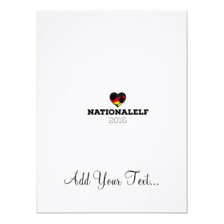 EM 2016 Nationalelf Germany 17 Cm X 22 Cm Invitation Card