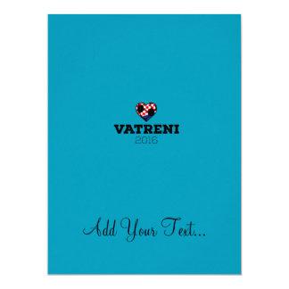 EM 2016 Vatreni Croatia 17 Cm X 22 Cm Invitation Card