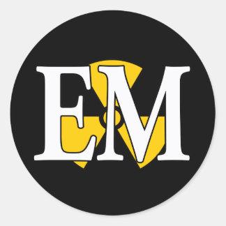 EM Navy Nuke Classic Round Sticker