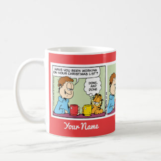 """Emailed List to Santa"" Garfield Comic Strip Mug"