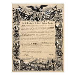 Emancipation Proclamation Print Postcard
