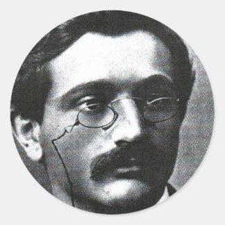 Emanuel Lasker Round Sticker