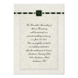 Emarld Ribbons & Lace Post Wedding Card