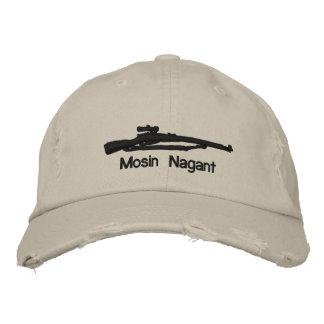 Emb. Mosin Nagant Adjustable Hat W/Soviet Star Embroidered Cap