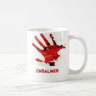 Embalmer Bloody Hand Print Mug