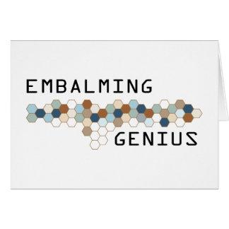 Embalming Genius Greeting Cards