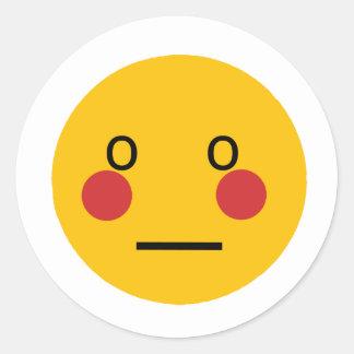 Embarassed Round Sticker