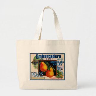 Embarcadero Fancy Santa Clara Pears Large Tote Bag