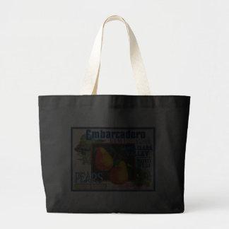 Embarcadero Fancy Santa Clara Pears Canvas Bags
