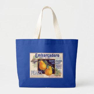 Embarcadero Pears Fruit Crate Label Canvas Bag