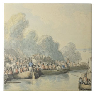 Embarkation at Southampton on 20th June after Lord Large Square Tile