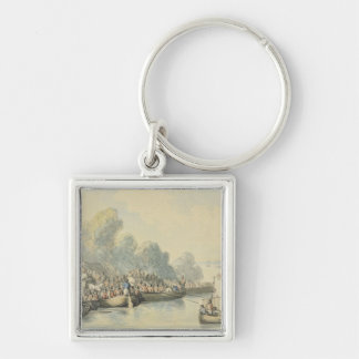 Embarkation at Southampton on 20th June after Lord Silver-Colored Square Key Ring