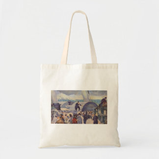 Embarkation of the Folkestone by Edouard Manet Budget Tote Bag