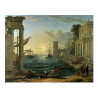 Embarkation of the Queen of Sheba - Claude Lorrain Postcard