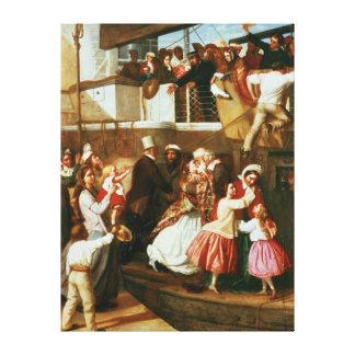 Embarkation Scene Canvas Print