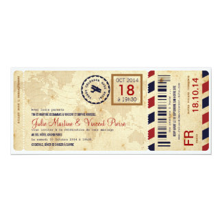 Embarquement avion invitation de billet de passage