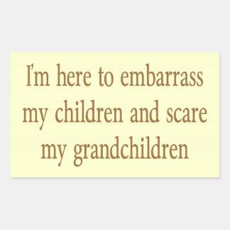 EMBARRASS THE CHILDREN RECTANGLE STICKER