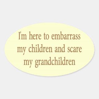 EMBARRASS THE CHILDREN OVAL STICKERS