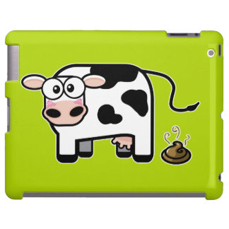 Embarrassed Pooping Cow iPad Case