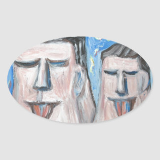Embarrassing Father and Son ( expressionism) Stickers