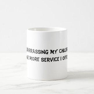 Embarrassing my children basic white mug