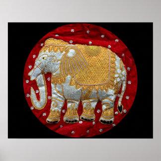 Embellished Indian Elephant Posters