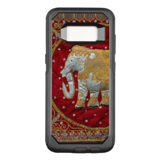 Embellished Indian Elephant Red and Gold OtterBox Commuter Samsung Galaxy S8 Case