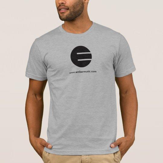 "Ember Music ""Black E"" T-Shirt -  AA Heather Grey"