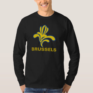 Emblem Iris Brussels Bruxelles Brussel  Belgium T-shirts