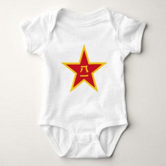 Emblem of the Chinese PLA - 中国人民解放军军徽 Baby Bodysuit