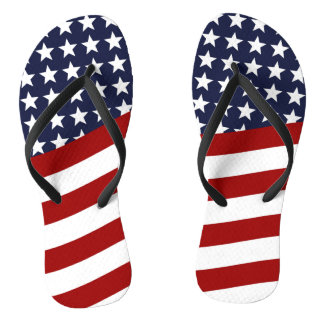 EMBLEM OF THE LAND I LOVE! (patriotic flag design) Flip Flops