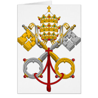 Emblem of the Papacy Official Pope Symbol Coat Card