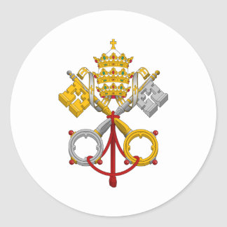 Emblem of the Papacy Official Pope Symbol Coat Round Sticker