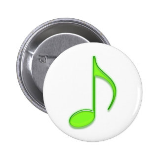 Emboss Green Music 8th Musical Note Pins