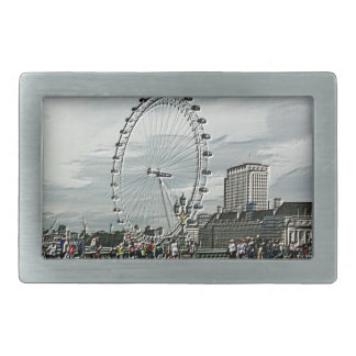 Emboss Photo Art of The London Eye Belt Buckle