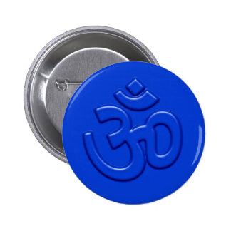 Embossed 3D Om Sign 6 Cm Round Badge