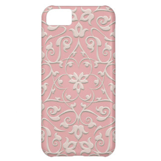 Embossed Arabesques Cover For iPhone 5C