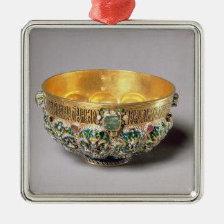 Embossed bowl set christmas ornament