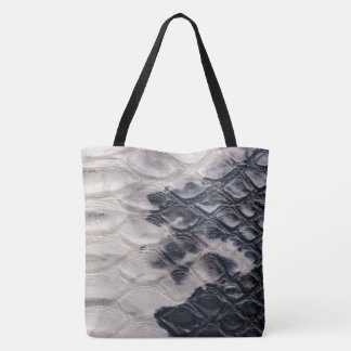 Embossed Crocodile Print Tote Bag
