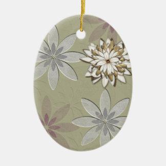 Embossed Flowers Art Christmas Ornament