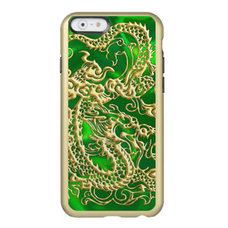 Embossed Gold Dragon on Green Satin Print Incipio Feather® Shine iPhone 6 Case
