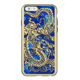Embossed Gold Dragon on Red Satin Incipio Feather® Shine iPhone 6 Case