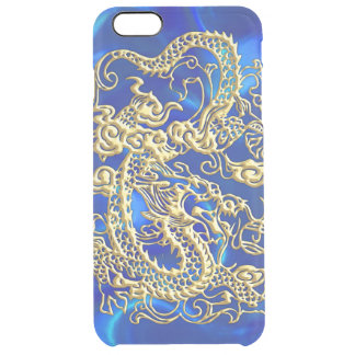 Embossed Gold Dragon on Red Satin iPhone 6 Plus Case