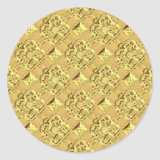 Embossed Gold Foil Classic Round Sticker